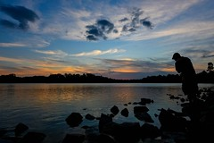 Hold Back The River (Anna Kwa) Tags: life light sunset sky love nature water clouds nikon missing scenery singapore silhouettes reservoir d750 lonely hold wander jamesbay lowerpiercereservoir afszoomnikkor1424mmf28ged annakwa holdbacktheriver