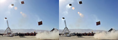 Burning Man 2015 - Trebuchet #4 -3D Cross - View (3dstereo) Tags: man eye photography stereoscopic 3d crosseyed view cross burning stereo stereoview trebuchet 2015