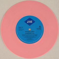 Samantha Fox - Naughty Girls (Leo Reynolds) Tags: colour vinyl single record squaredcircle disc coloured platter 45rpm 7inch xleol30x sqset120 xxx2015xxx