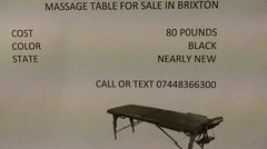 Massage table for sale Brixton http://t.co/ddiachKSty