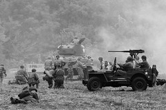 WW2 reenactment (Grant Goldenstern) Tags: usa army united battle il ww2 states tanks rockford germans alies