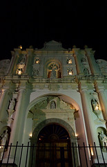 Catedral (Albert_Castle) Tags: white blanco church night facade lights luces noche darkness cathedral angeles faith catedral iglesia chiesa angels angelo fe fachada bianco notte luce fede jess cattedrale facciata antiguaguatemala oscurdidad