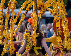 Mucho Brumcha (Mayur Shivz - Out and about casual photography) Tags: west floral face yellow festival dance costume birmingham paint olympus dancer pro f28 omd weekender mucho midlands godiva 2015 40150mm em5 brumcha