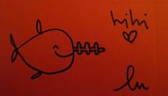 (lu.glue) Tags: red urban fish streetart black rot art rouge rojo sticker noir drawing negro stickers basel dessin fisch poisson rosso nero schwarz lu autocollant pesce basle kleber zeichnung hihi basilea filzstift ble designo filzer chlber luglue