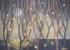 冬の足跡 - Arrival of Winter (清水みのり - Artist) Tags: winter art japan butterfly japanese origami artist waterlily nocturnal 日本 arrival rebirth nymphaea minori shimizu イタリア 折り紙 芸術 再生 日本画 アーティスト 清水みのり 京おりがみ 夜光蝶 冬の足跡