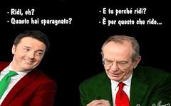 Renzi e Padoan sono allegri perché lavorano per il nostro bene (SatiraItalia) Tags: tas matteo tasi ministro renzi padoan
