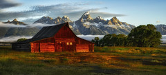 Dream Landscape (Jeff Clow) Tags: travel vacation barn western wyoming jacksonhole grandtetonnationalpark mormonrow theoldwest moultonbarn thomasamoultonbarn