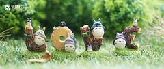 Totoro (Thai Toy Photographer) Tags: anime tree cute green love grass japan toys happy leaf model outdoor group cartoon manga trading totoro figure ghibli figurine figures toyphotography toysstory