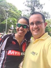 Hoje observei o quanto sonho, desejo interior de realizar algo que acreditamos e almejamos. Parabenizo minha esposa Cristiane por sua dedicação e força por pedalar mais 70 km. Parabéns!!!