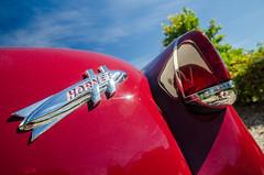 Autumn joy ride (GmanViz) Tags: sky color detail car nikon automobile convertible 1954 badge hudson hornet taillight trunklid gmanviz d7000