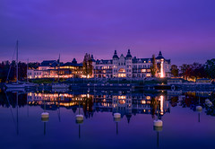 Grand Hotel Saltsjbaden (Storkholm Photography) Tags: ocean city longexposure nightphotography autumn boy sunset lake reflection fall water skyline night clouds hotel mirror evening harbor boat nikon sweden stockholm sigma balticsea bluehour scandinavia archipelago grandhotel saltsjbaden d610 sigma2470f28 sigma2470mmf28exdghsm