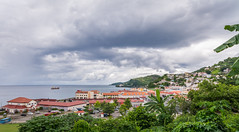 Dark Clouds over the City ! (Andy Johnson Photos) Tags: travel cruise urban seascape nature weather clouds landscape nikon grenada bloggers caribbean andyjohnson mygearandme