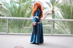 Merida - Brave (Anime Indian) Tags: woman girl beautiful pretty cosplay disney redhead merida bow pixar convention brave arrow cosplayer sabotencon saboten2015 sabo2015