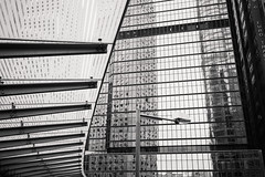 (Oct 12, 2015 06-44 AM)FUJIFILM X-Pro1556 (Bony_) Tags: china blackandwhite architecture buildings hongkong mirrors reflets canton chine lampadaire btiments miroirs streetlamps noiretblanc