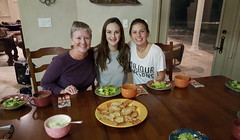 Laura, Rachael & Anna - tonight's chefs