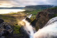 Effusion of Spirit (Paul Weeks Photography) Tags: sunset water river flow waterfall iceland scenic steam adventure midnightsun westfjords amazinglight iceandsnow epiclight djandifoss