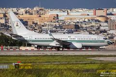 Nigeria Air Force --- Boeing 737-700 BBJ --- 5N-FGT (Drinu C) Tags: plane aircraft aviation military sony boeing dsc 737 mla bizjet privatejet bbj 737700 nigeriaairforce lmml 5nfgt hx100v adrianciliaphotography