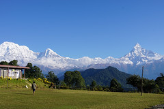 Annapurna South 7219m, Hiunchuli 6441m, Machapuchare 6993m (Poxxel) Tags: nepal annapurnasouth hiunchuli machapuchare australiancamp