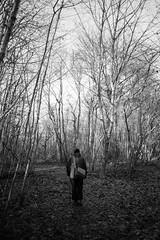 walk (Jostein Nilsen Photography) Tags: blackandwhite bw monochrome norway forest walking norge outdoor sony 28mm skog nikkor vestfold jostein wak ilce7