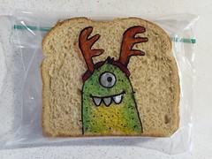 Reindeer Fun (D Laferriere) Tags: christmas art bag reindeer dad drawing sandwich sharpie creature attleboro laferriere kritzels