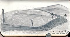 At Kjölur in Iceland (Sibba) Tags: road sketch sketchbook highland asphalt sketches kjölur kjolur