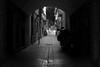 by crossing the alley (pepe amestoy) Tags: streetphotography blackandwhite people santafaz alacant spain fujifilm xe1 voigtländer color skopar 2535 leica m mount