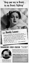 Vintage Ad (1942) (BudCat14/Ross) Tags: vintageads vintagebeauty 1942 1940s dorothylamour