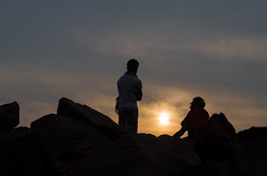 Sunrise Talk !! (Ivon Murugesan) Tags: animal animals beach horse horseride india letsexplore light mamallapuram morning nature ocean outdoor people places river sea seashore sunlight sunrise sunshine travel water waterscapes silhouette crow bird rock background sky bluesky trees mahabalipuram flickrtravelaward