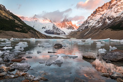 Sunrise at Lago Torre (sierra_bum) Tags: patagonia argentina canon canonusa teamcanon 5dmkiv tokina tokinausa flickr landscapes sunrises glaciers icebergs lakes nature wilderness mountains clouds