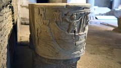 "End view with ""Neptune,"" Santa Maria Antiqua Sarcophgus"