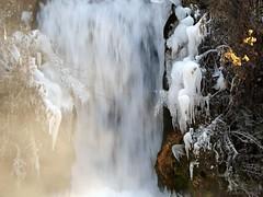 Waterfall with ice worms (andraszambo) Tags: tél fagy winter frozen frost waterfall wasserfall hungary ungarn tapolca water wasser eis ice icecolumn iceworm cold kalt iceage nature natur wetter időjárás weather
