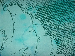 DSC0966894 (scott_waterman) Tags: scottwaterman painting paper ink watercolor gouache lotus lotusflower detail blue bluehue