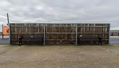 Bench Fence Bench (Number Johnny 5) Tags: lines tamron d750 2470mm pier vertical empty mundane boring banal nikon deserted gorleston angles horizontal bench fence