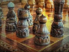 Pawn in the Corner (clarkcg photography) Tags: chess squares corner black white pawn macromondays texturaltuesday macrowednesday7dwf 7dwf