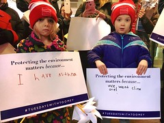 "Tiny activists attend a ""Tuesdays With Toomey"" event in Philadelphia."