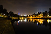 (Brad.S.Cook) Tags: skyline city cityscape melbourne night lights refelctions river water darkness trees park grass leaves building