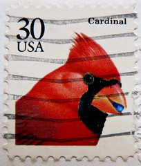 great stamp USA 30c Cardinal (Northern Cardinal, Rotkardinal, Cardinalis cardinalis, cardenal norteño, Cardinal rouge, vörös kardinálispinty, ショウジョウコウカンチョウ, Красный кардинал, cardeal) United States of America timbre États-Unis u.s. postage selo Estados Un (stampolina, thx for sending stamps! :)) Tags: cardinal northerncardinal rotkardinal cardinaliscardinalis cardenalnorteño cardinalrouge vöröskardinálispinty ショウジョウコウカンチョウ красныйкардинал cardeal antspaudai frimerker znaczki znamk stamps timbres pulları แสตมป์ markas postage postes postestimbres statiuniti γραμματόσημα сша марки スタンプ アメリカ 美国 邮票 ηπα usa uspostage stamp timbru bird birds vogel vögel طائر aves oiseau pulu red rot rouge