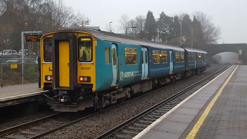 150257 stands at Pontyclun with Cheltenham Spa service