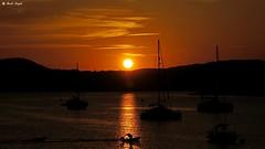 Zachód słońca w Santa Ponsa na Majorce (dreptacz) Tags: zachódsłońca słońce chmury zachód morze łodzie rybak odbicie majorka hiszpania żaglówki sony slt lustrzanka wyspa baleary