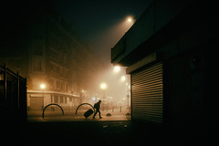early travel (johann walter bantz) Tags: urban explorer early morning fog nebel brume fujifilm xpro2 23mm ambiance atmosphere street streetphotography