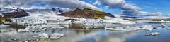 Fjallsárlón 2, Iceland (dejott1708) Tags: fjallsárlón iceland ísland lake glacial gletschersee clouds sky panorama