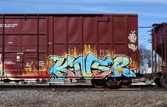 Knsr (quiet-silence) Tags: graffiti graff freight fr8 train railroad railcar art knsr boxcar bnsf bnsf729280