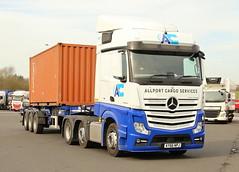 Mercedes Actros Allport Container Services AY66NPJ Frank Hilton IMG_4957 (Frank Hilton.) Tags: classic truck lorry eight wheel maudsley aec atkinson albion leyalnd bristol austin outside heavy haulage crane 8 axle