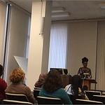 Nigerian American author Dr. Nnedi Okorafor gives brown bag talk