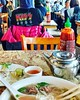 KISS my pho!  😋 #phohung #Chinatown #nomnomnom #postdoctorappointment #welcometomy50's 😝 (Georgie_grrl) Tags: instagramapp square squareformat iphoneography uploaded:by=instagram clarendon pho lunch chinatown yummy phohung toronto ontario spadinaavenue kisstshirt bluehair awesomeness photoop tea restaurant sriracha