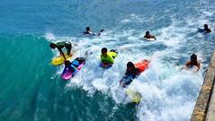 Waikiki / Ala Moana Beach (mandrestes) Tags: sports outdoors hawaii surf waikiki oahu paddle streetphotography duke surfing honolulu walls alamoanabeach bodyboard watersport surfrider dukekahanamoku alamoanacenter standuppaddle surfboardwaterpolo surders