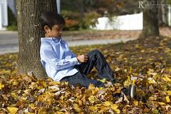 Son Under Tree