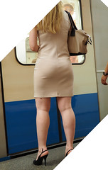 Pale girl with curvy shape and bumping ass (Thick'nCurvy Admirer) Tags: ass dress legs curvy tight shapely