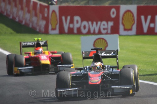 Stoffel Vandoorne in the GP2 Feature Race at the 2015 Belgium Grand Prix