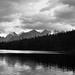 Herbert Lake Around Sunset (Black & White)